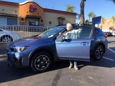 Me and my new Subaru Crosstrek