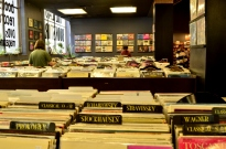 Row upon row of record albums
