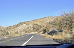 On the road back out of Wrightwood