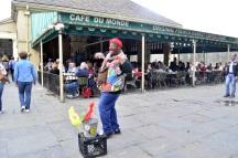 Street artist at Cafe du Monde, French Quarter