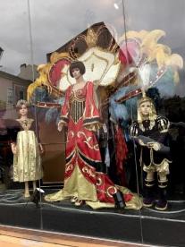 Mardi Gras museum window