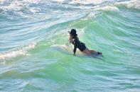 Surfer Girl in Huntington Beach