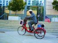 Patriotic bike in San Pedro