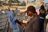 Street artist, Santa Monica Pier