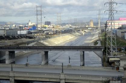 The L.A. River... concrete