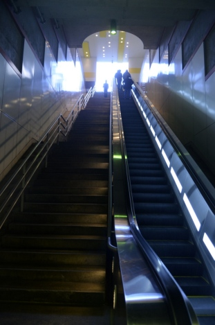 Up and out of the subway