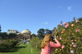 Kat in Rose Gardens at Museum grounds