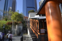 Angel's Flight, the little funicular train, $1 fare