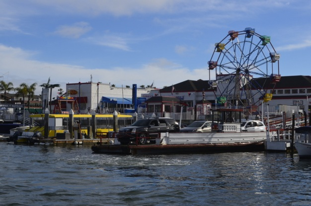 Balboa Fun Zone, and the other car ferry ready to go