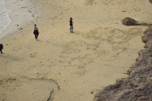 Writing on the Beach (1)