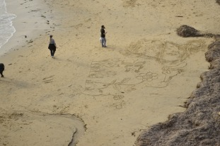 Writing on the Beach (1)