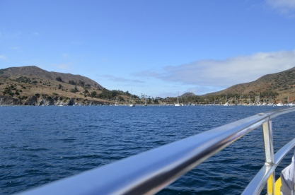 Approaching the dock at Isthmus Cove, Two Harbors