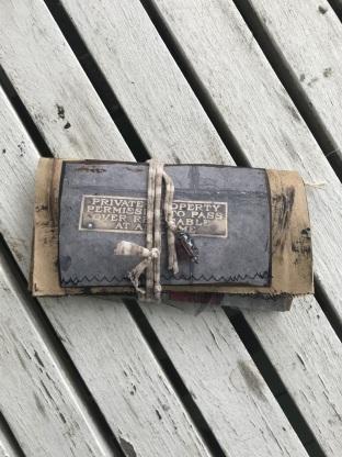 Urban Grunge Checkbook Paperbag