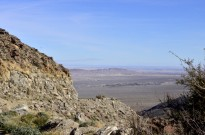 Way off in the distance is the Salton Sea