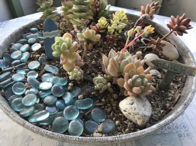 Miniature garden on the porch