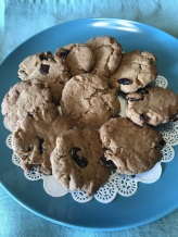 Ginger and dried cranberry cookies