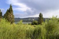 Big Bear Lake, water level is way down