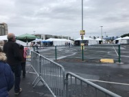Tents for interviews, shots, observation.