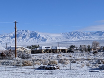 Pahrump, Nevada. Out my friend's breakfast room window.
