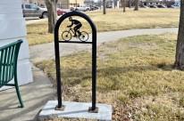 Fancy bike rack in Great Bend